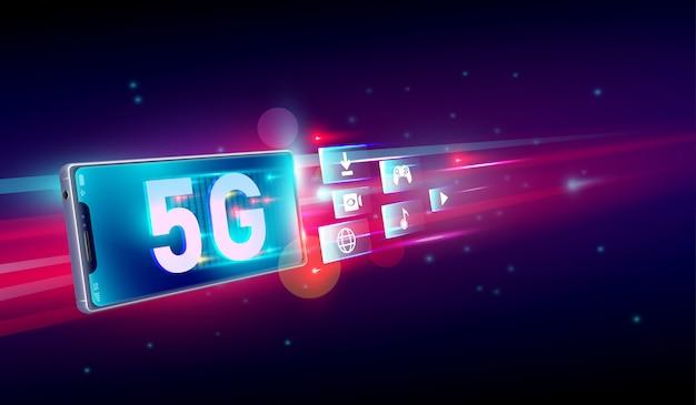 Neue fünfte generation des internets