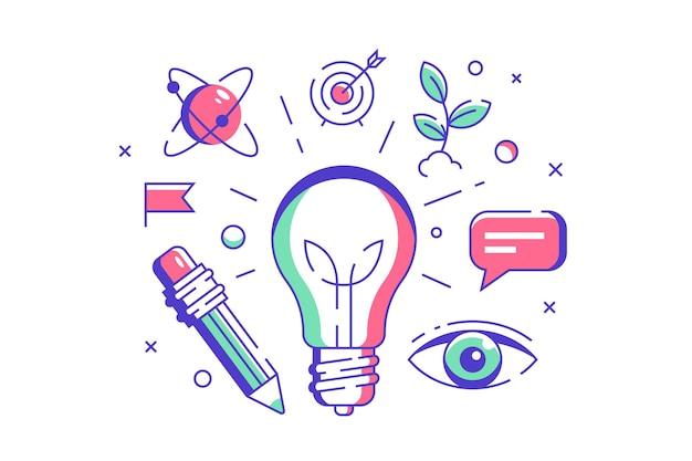 Neue ideensymbolillustration