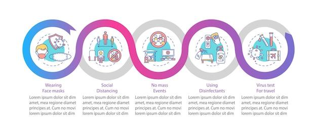 Neue infografik-vorlage für öffentliche bestellungen.