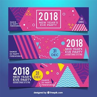 Neue jahr 2018 party-fahnen