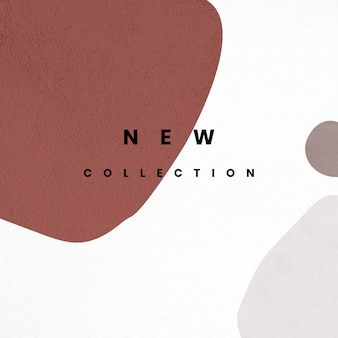 Neue kollektionsvorlage im memphis-stil