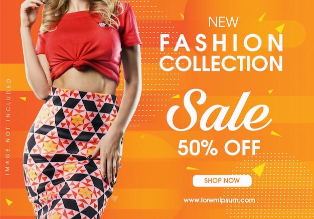 Neue mode verkauf banner vorlage