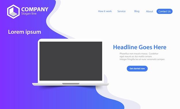 Neue modische seo optimierung website landing page