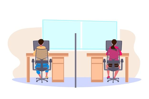 Neue normalität im büro