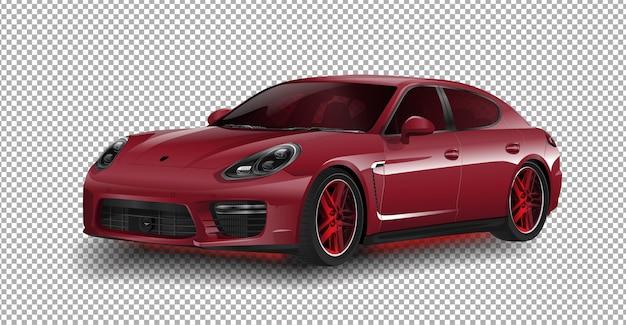 Neue porsche 911 gt3 sportwagen porsche-vektorillustration