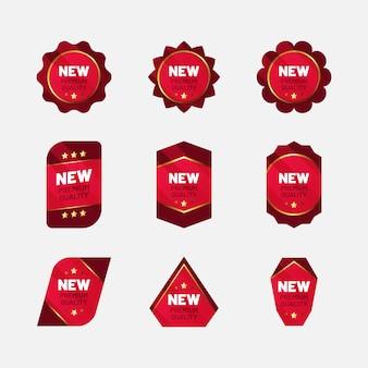 Neue premium-qualitätsabzeichen