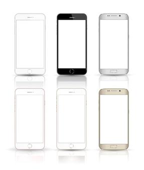 Neue realistische handy-smartphone-sammlung