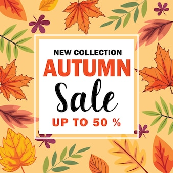 Neue sammlung autumn sale template design vektor-illustration