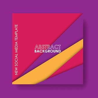 Neue social media vorlage. geometrisches abstraktes design mit farbverlauf
