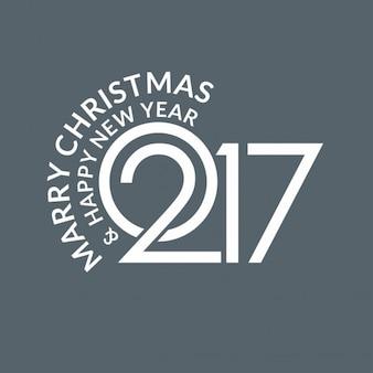 Neue stilvolle 2017 weihnachten typografie
