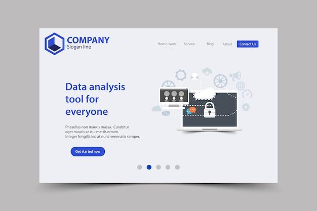 Neue trendige website landing page vektor thema template design