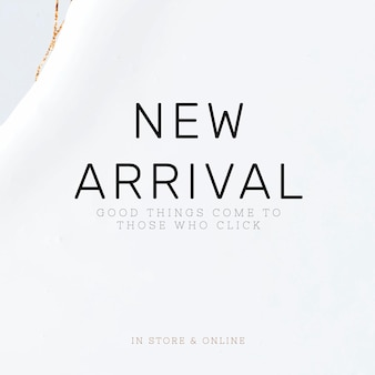 Neue weiße vorlage für die ankunft