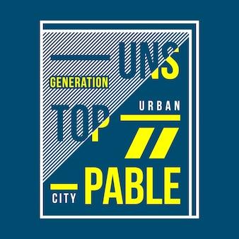 Neuer slogan typografie t-shirt design