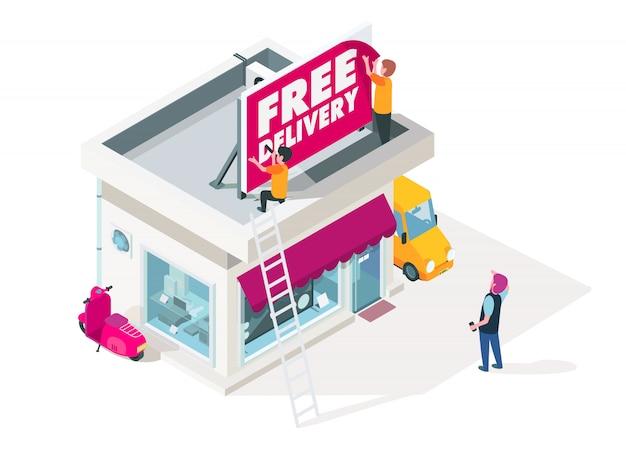 Neuer übergang für marketing-kleinunternehmen