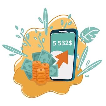 Neues digitales geldkonzept