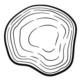 Neues globales virussymbol. umreißen sie handgezeichnetes neues globales virusvektorsymbol für webdesign isoliert auf weißem hintergrund