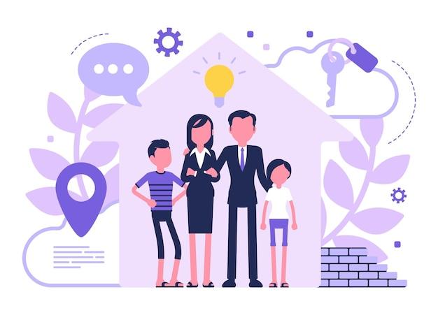 Neues haus für eine familie