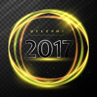 Neues jahr 2017 glänzend hintergrund