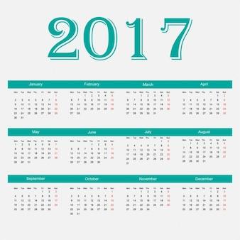 Neues jahr 2017 kalender