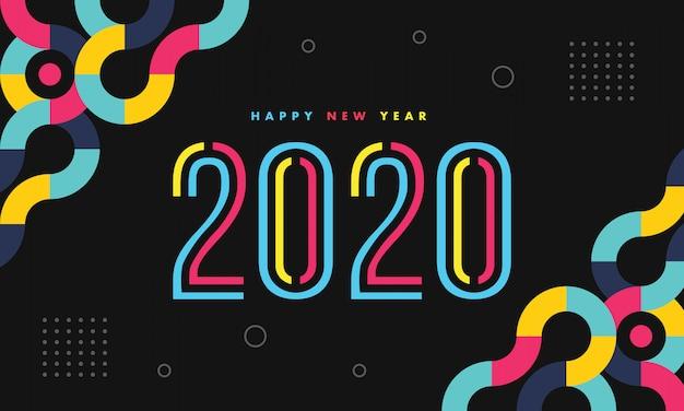 Neues jahr 2020 bunt