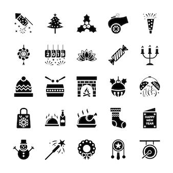 Neues jahr icons pack