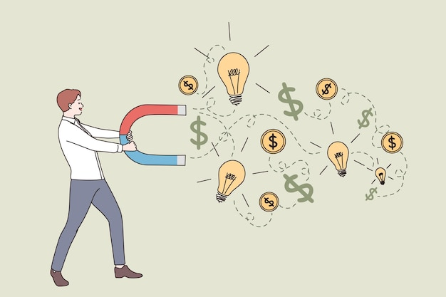 Neues konzept zum geldverdienen für geschäftserfolg
