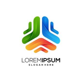 Neues logo symbol geometrisch