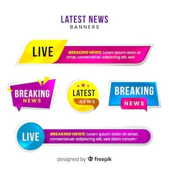 Neueste nachrichten-banner-sammlung