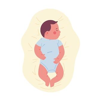 Neugeborene schlafen bequem auf einer weichen matratze ein
