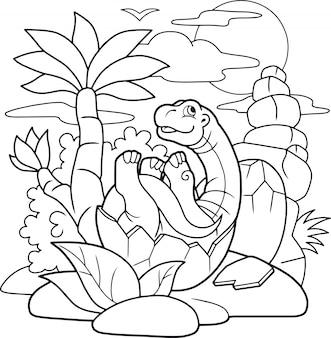 Neugeborener dinosaurier