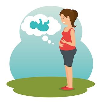 Neugeborenes babyikone der schwangerschaft