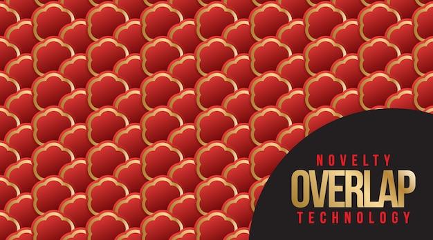 Neuheit-überlappungs-technologie-musterhintergrund