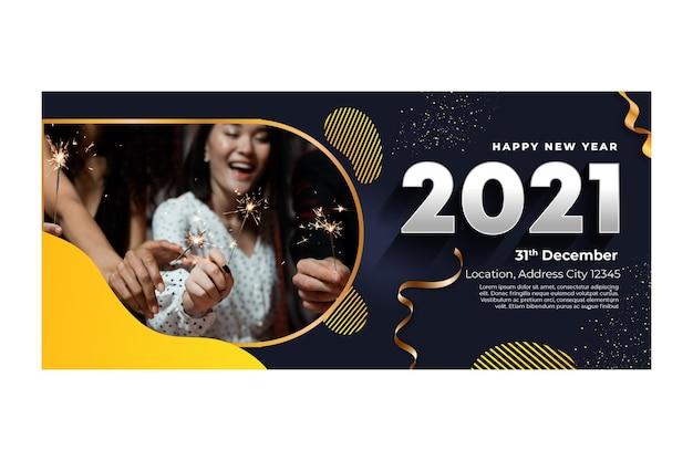 Neujahr 2021 banner vorlage
