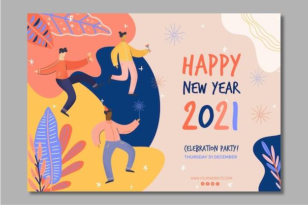 Neujahr 2021 bannerkonzept