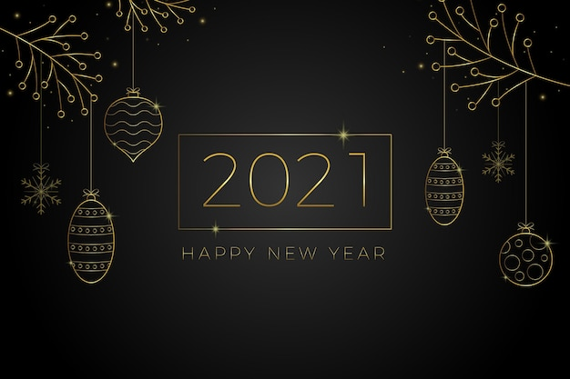 Neujahr 2021 hintergrund