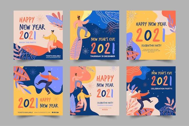 Neujahr 2021 ig post sammlung
