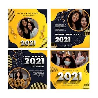 Neujahr 2021 instagram post sammlung