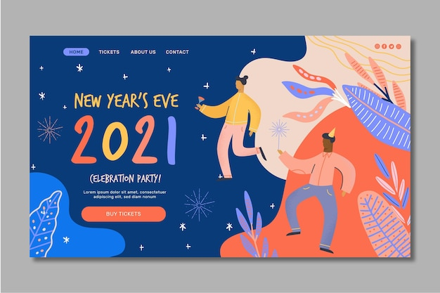 Neujahr 2021 landing page