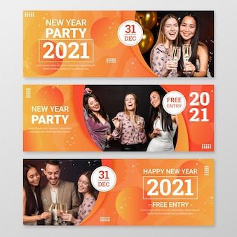 Neujahr 2021 party banner