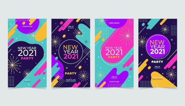 Neujahr 2021 party instagram geschichten sammlung