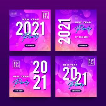 Neujahr 2021 party social media beiträge