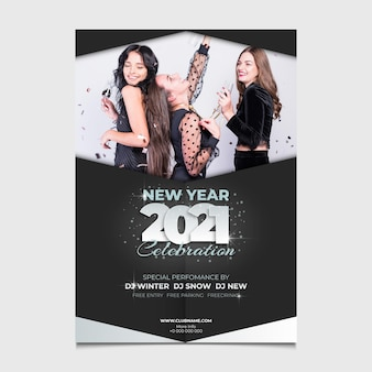 Neujahr 2021 partyplakat