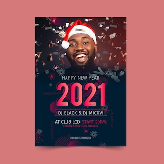 Neujahr 2021 plakatvorlage