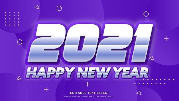 Neujahr 2021 typografie bearbeitbarer texteffekt