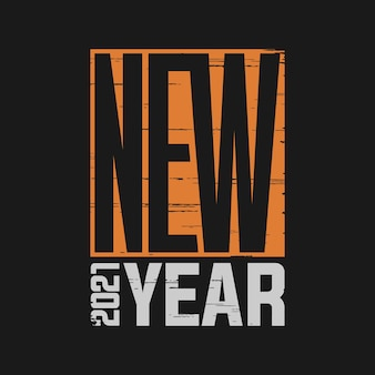 Neujahr 2021 typografie