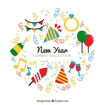 Neujahr artikel packen