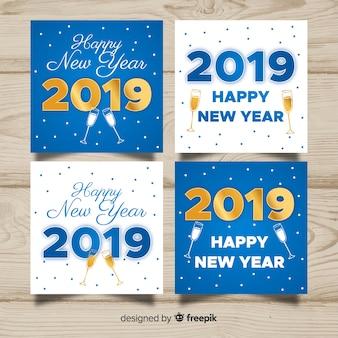 Neujahr cheers karten pack