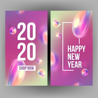 Neujahr einladungskarte feiert 2020