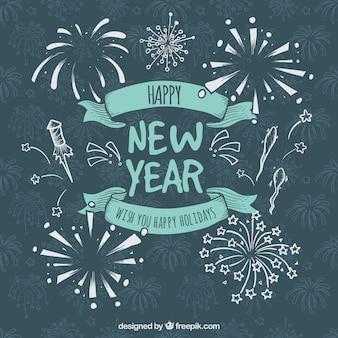 Neujahr hintergrund mit original-stil