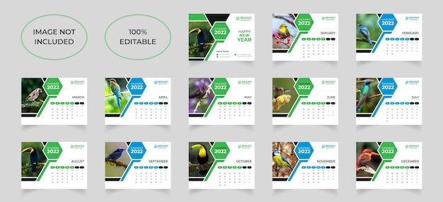 Neujahr tischkalender vorlagendesign